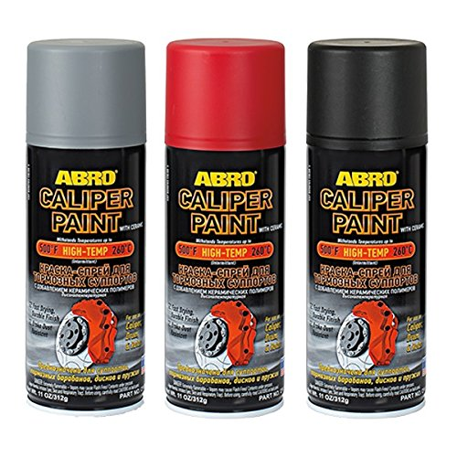 ABRO BLACK BRAKE CALIPER SPRAY PAINT GLOSS AEROSOL TOUGH RESISTANT FINISH 400ml USA