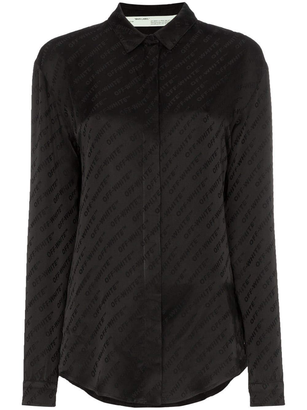 Brand Size 42 OFFWHITE Women's OWGA031R19C860571000 Black Acetate Shirt