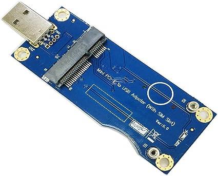 Mini PCI-E to USB Adapter Card with SIM Slot WWAN Test Converter Adapter Card 3G//4G Module Horizontal Type Godyluck