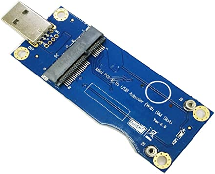 Mini Adaptador PCI-E a USB con Ranura para Tarjeta SIM para módulo WWAN/LTE (Grado Industrial)