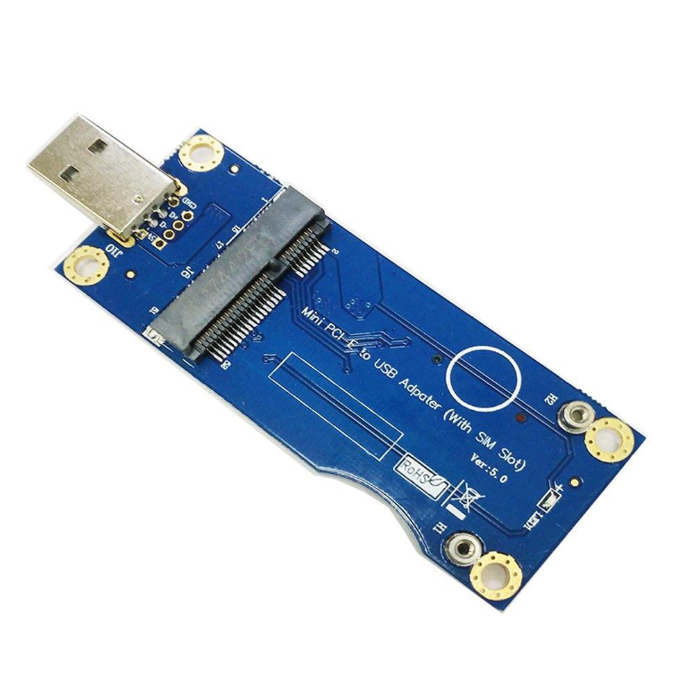 Adaptador Mini Pci-e A Usb Con Sim Slot Para Modulo Wwan/lte