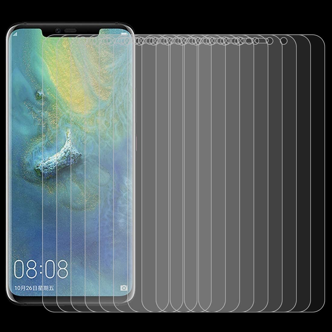 ALICEWU WJH 0.26mm 9H Surface Hardness 2.5D Curved Edge Tempered Glass Film for Huawei Mate 20 Pro