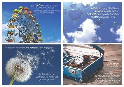 Juego de 4 tarjetas de felicitación / 4 diseños de corazones ...