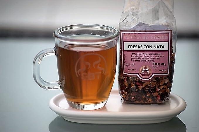 SABOREATE Y CAFE THE FLAVOUR SHOP Infusión de Frutas Fresas con Nata saboreateycafe 100 grs.