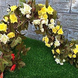FYYDNZA 1 Stks Herfst Simulatie Rose Wijnstok Hoogwaardige Nep Bloemen Gekruld Rose Rose Bloem Tuindecoratie,3 19