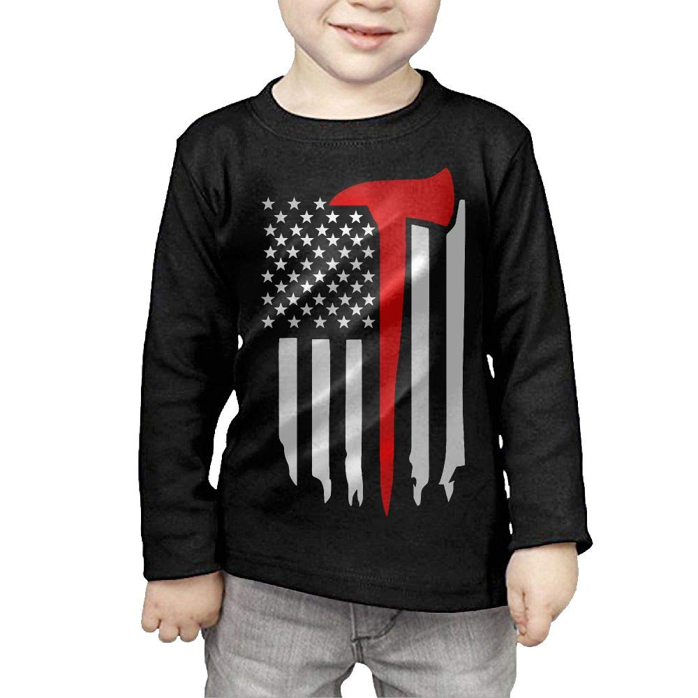 Fryhyu8 Baby Boys Childrens Flag with Red Line Printed Long Sleeve 100/% Cotton Infants Tops
