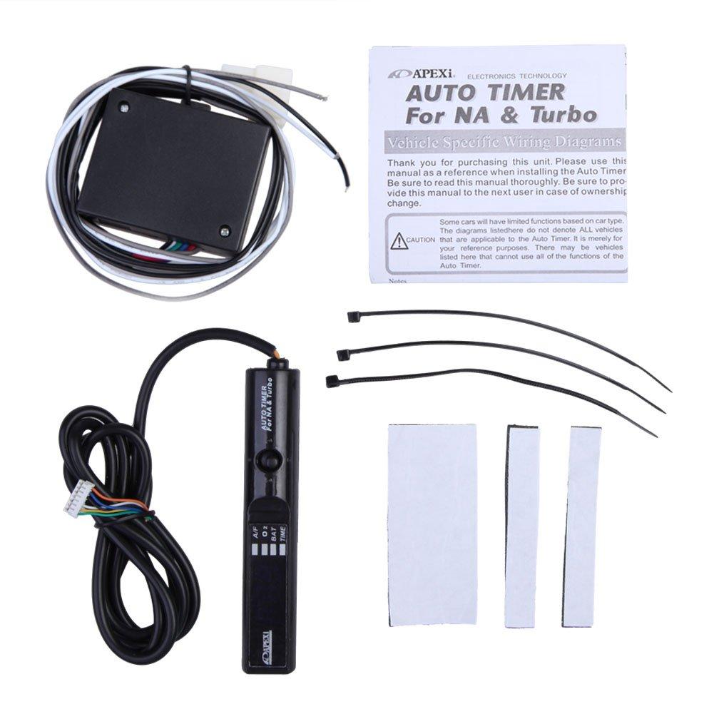 Amazon.com: Sikiwind Universal Apexi Auto Turbo Timer for NA Pen Control  JDM LED Digital-Black: Automotive