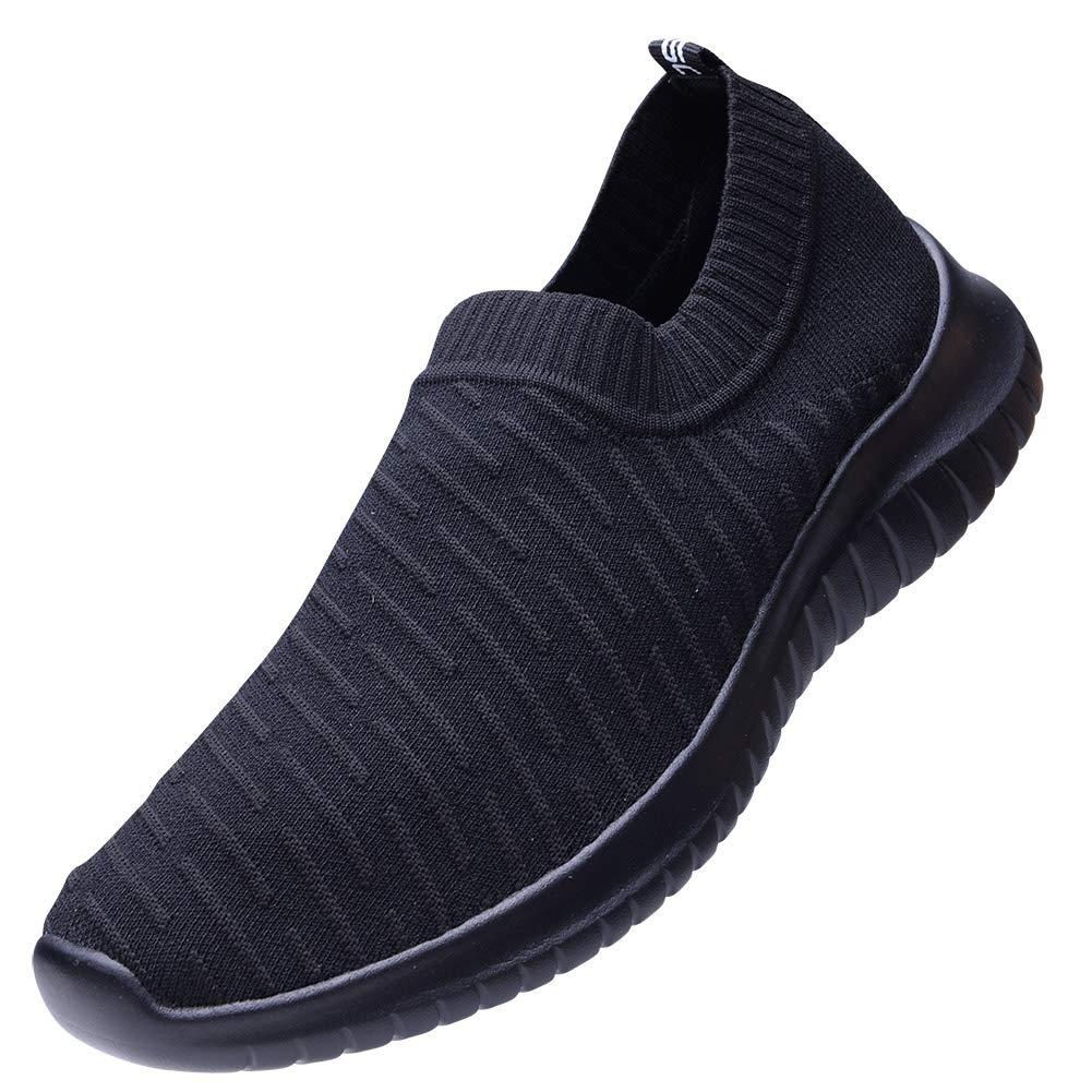 d3fd1cf814147 TIOSEBON Women's Lightweight Casual Fashion Walking Shoes Breathable  Flyknit Running Slip-On Sneakers