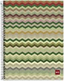 Miquelrius EcoZigZag Cardboard Notebook, (6 x 8, 4-Subject, College Ruled) 120 SHEETS