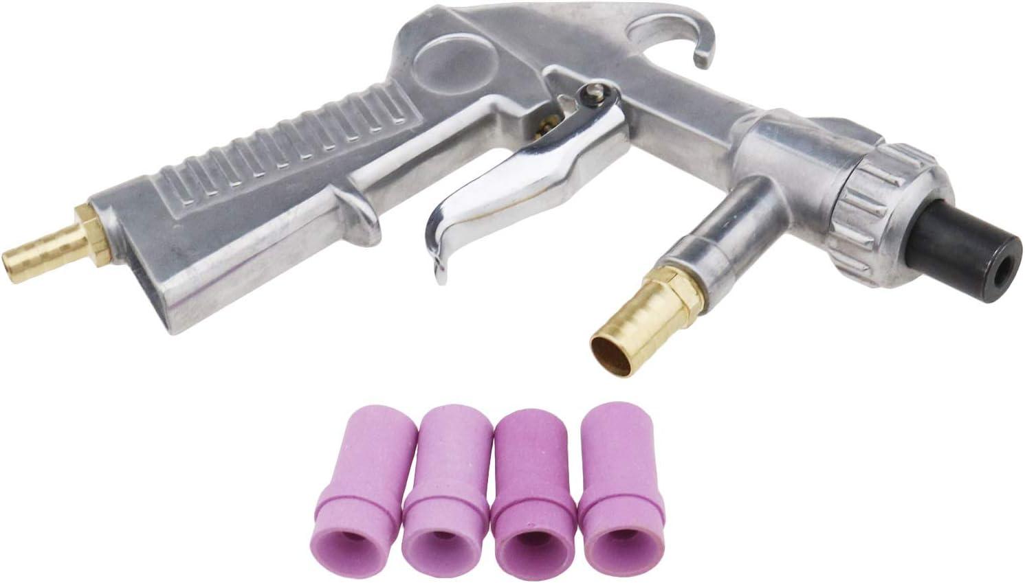 ENET 8 in 1 Sandstrahlpistole Sandstrahlpistole Luftsiphon 4,5 mm//5 mm//6 mm//7 mm Keramikd/üsen-Set