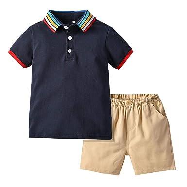 Conjunto de Ropa de Verano para bebé y niño, Camiseta de Arco Iris ...