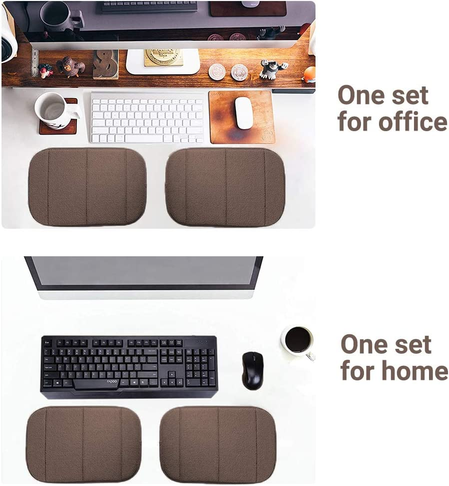 7.9/″/×11.8/″, Gray AUHOKY 2 Sets Ergonomic Keyboard Wrist Rest Elbow Support Mat for Office Desktop Working Gaming Memory Foam Relieve Elbow Pain 4Pcs Portable Computer Elbow Wrist Pad