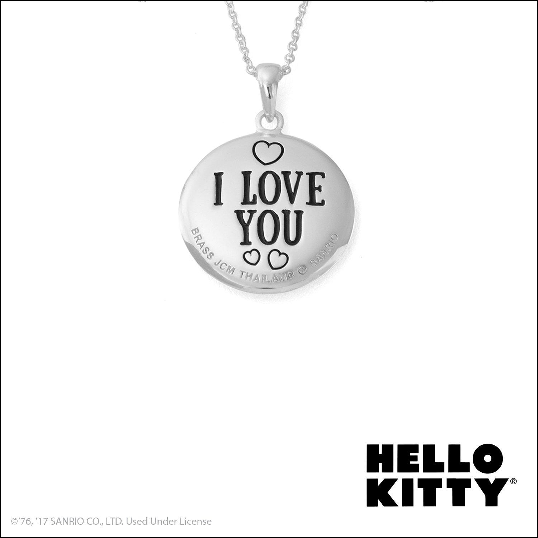 faf98e361 Sanrio 925 Sterling Silver C Z Hello Kitty Love Tag Pendant Chain Necklace  20 Fine Jewelry