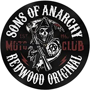 Sons of Anarchy Modern Wall Clock, Silver Wall Clock Decorated with Silent Operation in Office School Home Living Room.
