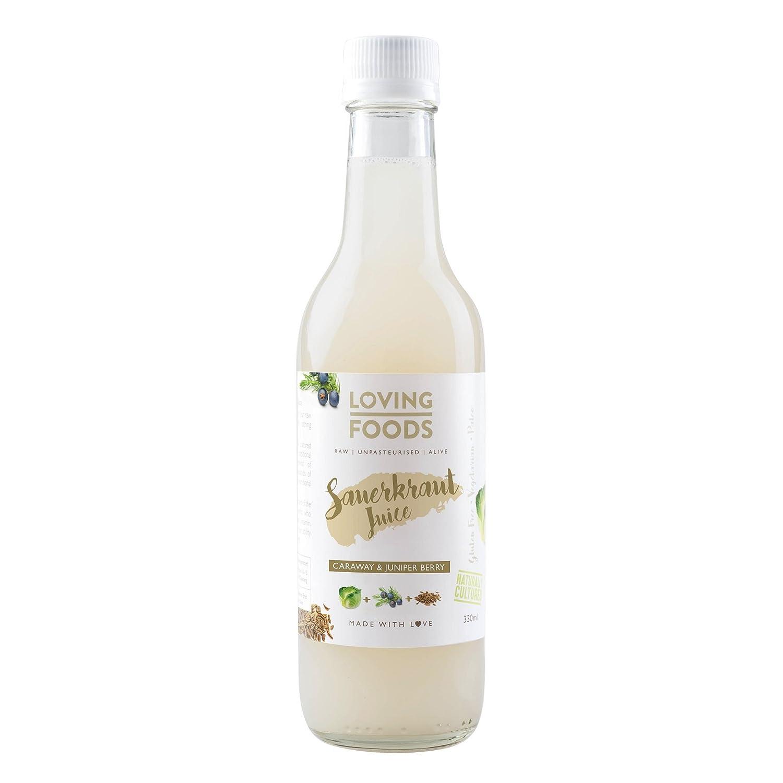 Loving Foods Orgánico Jugo de Chucrut y Alcaravea & Bayas de ...