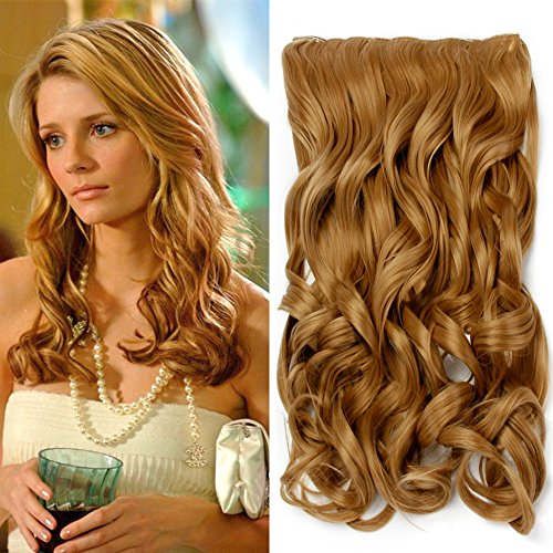 """Neverland Beauty 22"""" 3/4 Full Head One Piece Clip in Wavy Curly Hair Extensions Honey Blonde from Neverland Beauty & Health"""