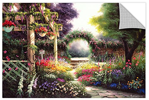 Gallery Tapestries - Egidio Antonaccio ''Floral Tapestry'' Gallery Wrapped Canvas, 32X48
