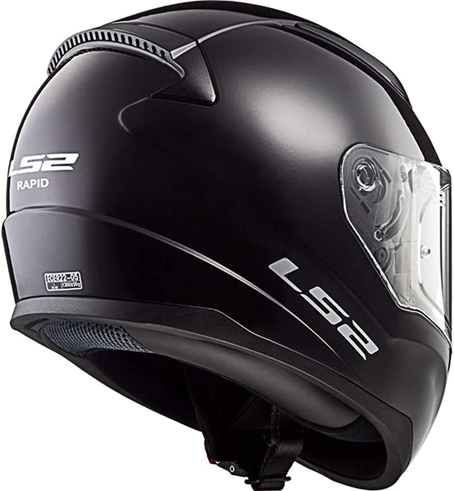 LS2 FF353 RAPID MINI Motorbile Motorcycle Single Full Face Helmet Mono Gloss Black Large
