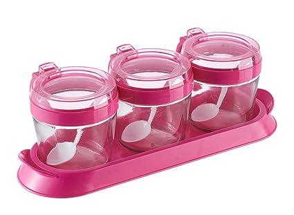 FJXLZ® Suministros de cocina Vidrio Jarro de especias Cajas de sal Caja de condimentos creativa