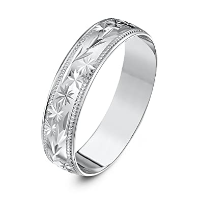 Theia Unisex Heavy Weight Circle Design with Millgrain Edge D Shape 9 ct Gold Wedding Ring fnQNZqGQ