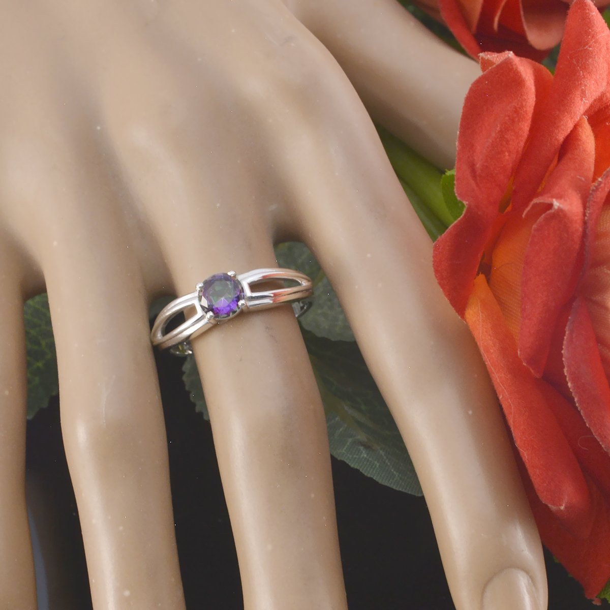 Lovely Gemstones Round Faceted Mystic Quartz Ring Supply Jewelry Greatest Selling Shops Gift for College Jewelry Solid Silver Blue Mystic Quartz Lovely Gemstones Ring
