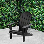 TRUESHOPPING-Outdoor-Garden-Polywood-Adirondack-Chair-Easy-Build-Weather-Resistant-Bjorn-Armchair-with-Curved-Back-Garden-Patio-Lawn-and-Decking-Furniture-Black