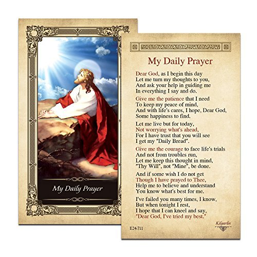 My Daily Prayer Laminated Prayer Card - Pack of 3
