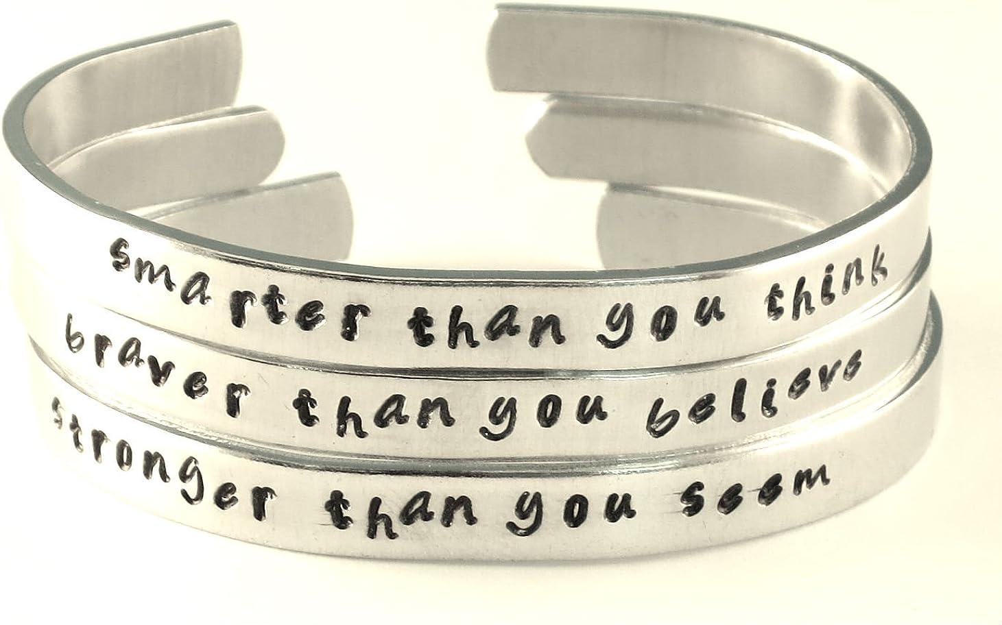 BFJLIFE Inspirational Cuff Bracelet Motivational Mantra Bangle Engraved Bracelet