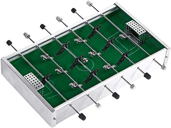 Asdflina Mesa de Juego combinada Cubierta futbolín for los niños Juego Tabla W/Foosball Mini Compacto de Mesa Mesa de futbolín Equipo de Juegos de Sala de recreo para niños: Amazon.es: Hogar