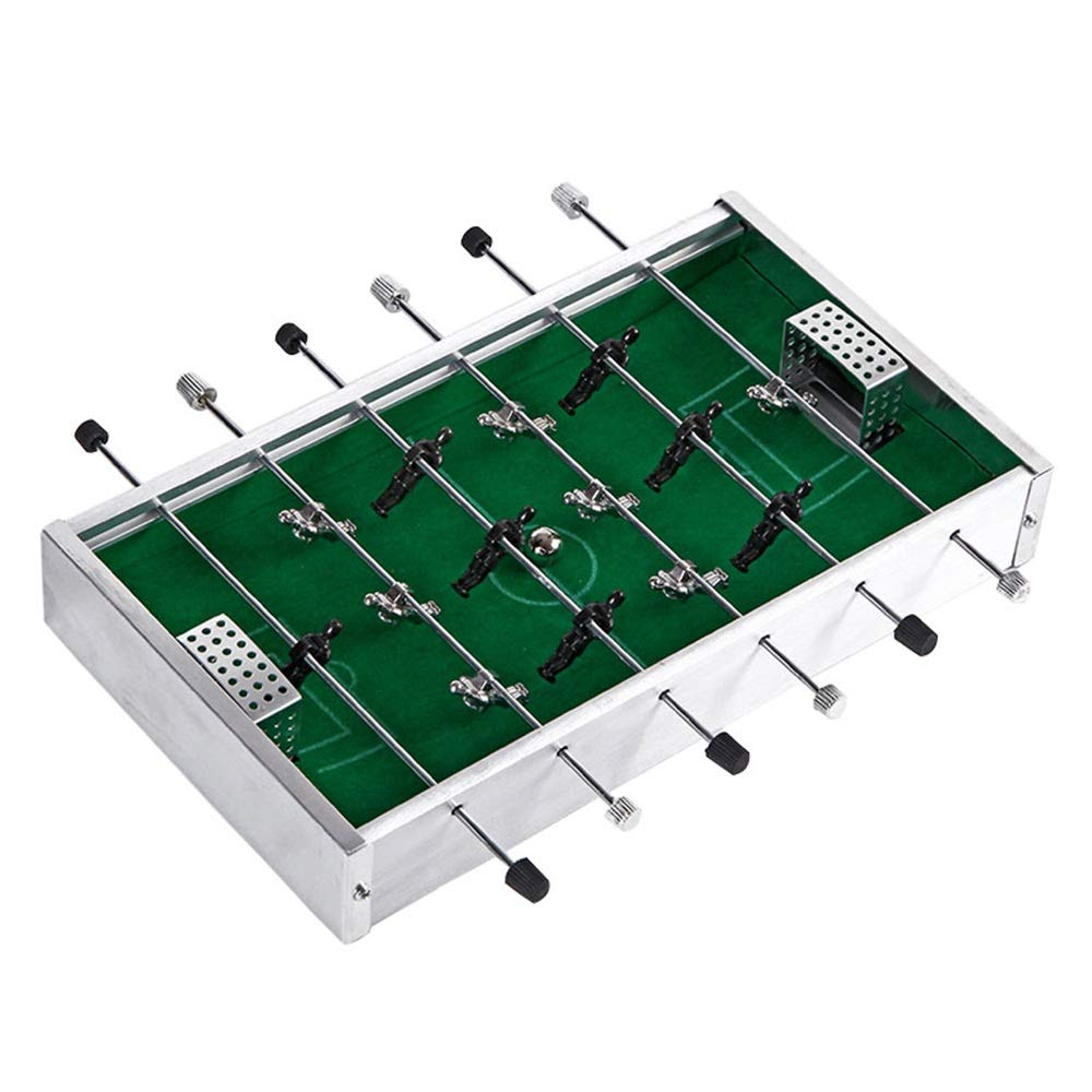 Kindlov-toys Table Game Indoor Foosball Table for Kids Game Table W/Foosball Compact Mini Tabletop Foosball Table for Home, Game Room, Arcade (Color : Silver, Size : 20.5x11.5x3cm) by Forgiven