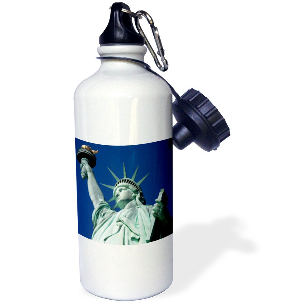 21 oz White USA-US33 BJN0056-Brian Jannsen Sports Water Bottle 3dRose wb/_145392/_1Statue of Liberty New York City