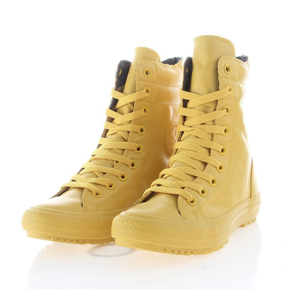 Converse Womens Chuck Taylor All Star Hi-Rise Boot Rubber, YELLOW/YELLOW, 8 US
