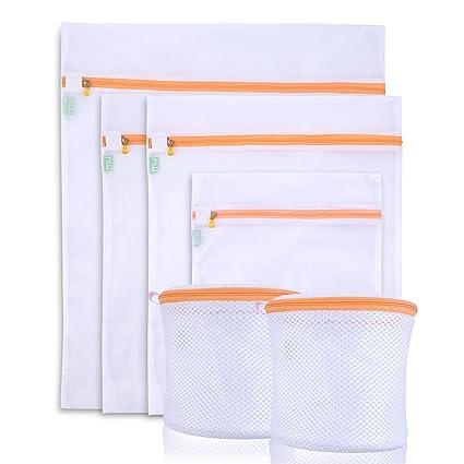 Miu Color, bolsa para lavar la ropa, juego de 6 bolsas para lavadora,