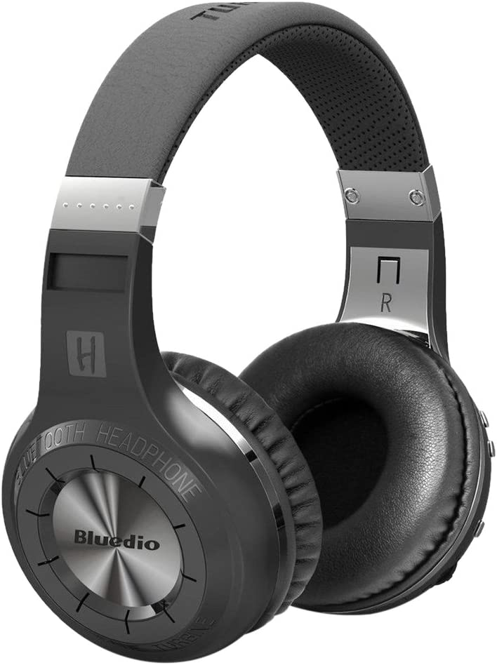 Bluedio 1566998 H Plus Turbine Wireless Bluetooth 4.1 Stereo Headphones with Mic/Micro SD Card Slot/FM Radio, Black