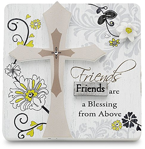 Mark My Words Self Standing Plaque with Friends Saying, 3 by 3-Inch
