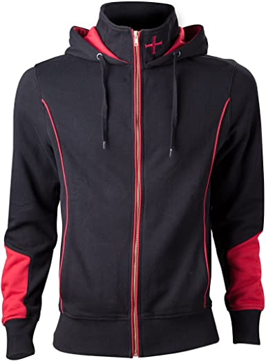 Assassin S Creed Rogue Men Hooded Zip Black Red Amazon Co Uk