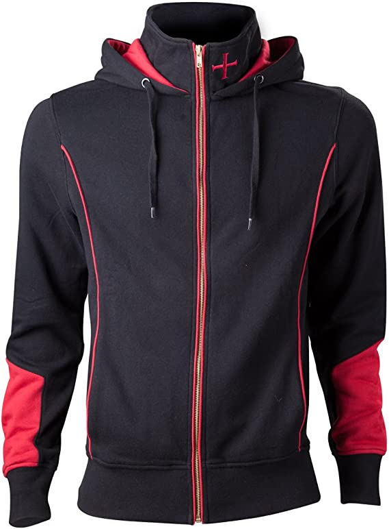 Assassin's Creed Rogue Sweat à capuche zippé noirrouge 4XL