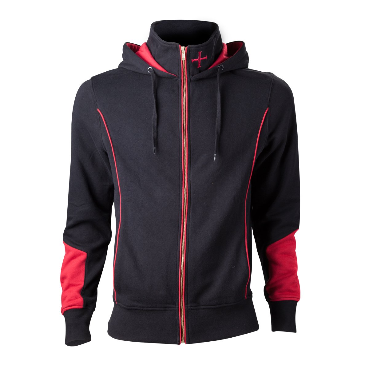 Assassins Creed Rogue - Sudadera con capucha, color negro/rojo, Talla M
