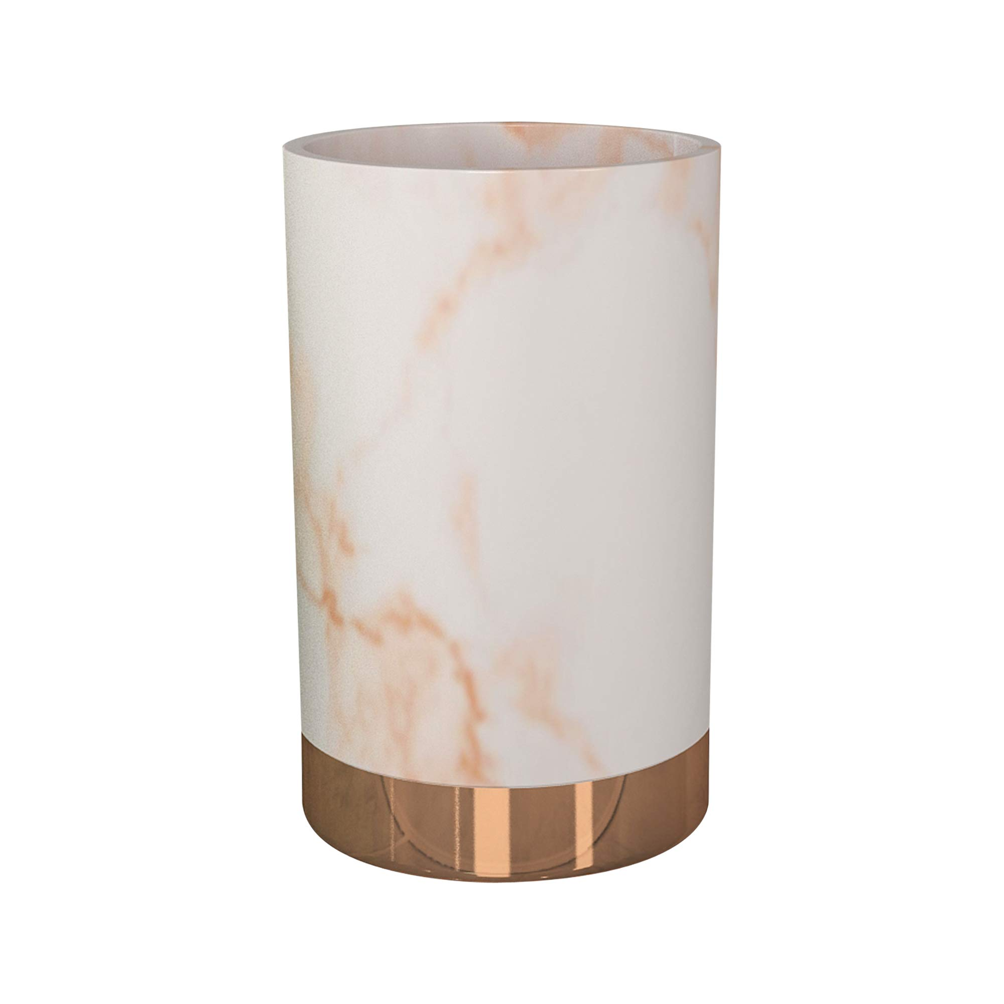 nu-steel MST5CH Misty Copper Collection Tumbler, Perfect for Home & Bathroom Accessories, Resin and Metal by nu-steel