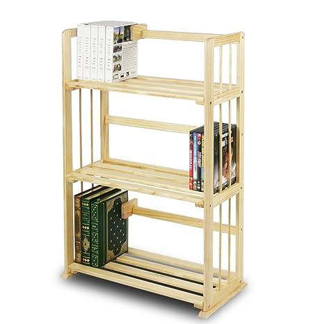 Best Amazon.com: Furinno FNCL-33001 Pine Solid Wood 3-Tier Bookshelf  ZQ36
