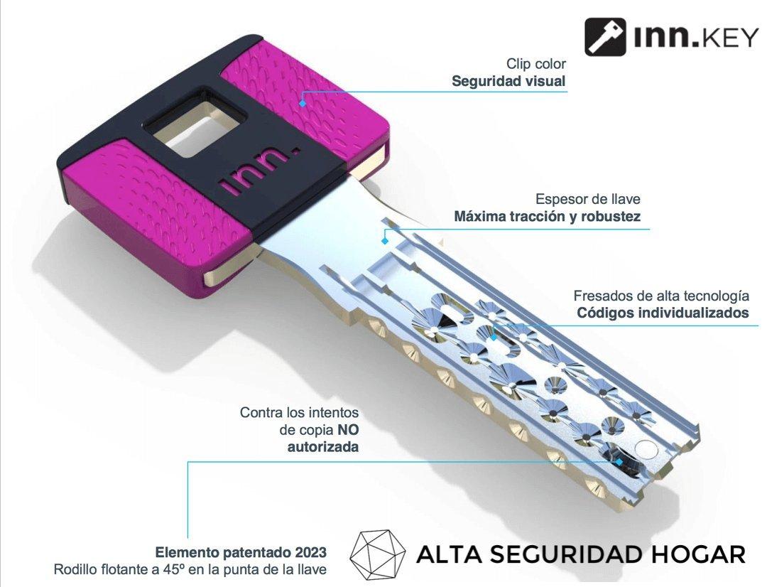 BOMBILLO DE ALTA SEGURIDAD INN.SMART® DOBLE EMBRAGUE LEVA CORTA ... (Latonado, 60mms 30+30): Amazon.es: Industria, empresas y ciencia