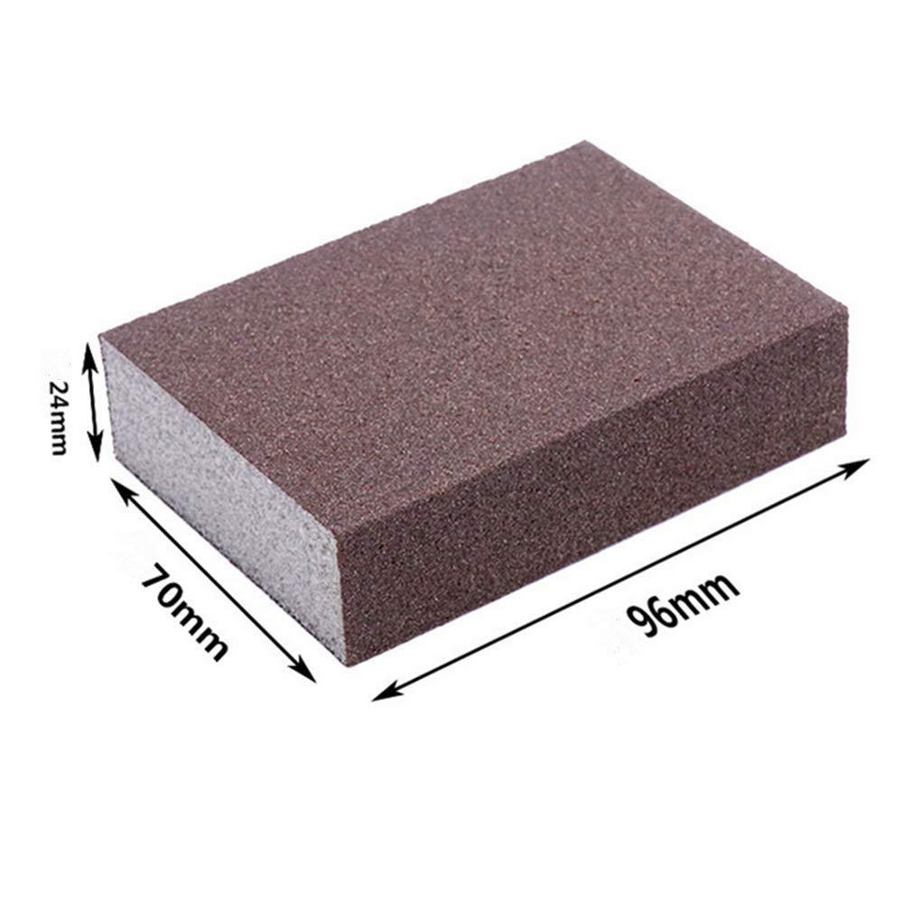12 Pcs 320 Brown Sanding Sponge Grit Sanding Blocks, Washable and Reusable Sand Sponge Kit by Smart Export LLC