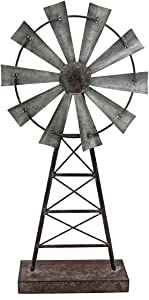 Foreside Home & Garden Large Windmill Table Decor,