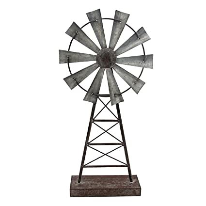 Foreside Home U0026 Garden FDAD02407 Large Windmill Table Decor