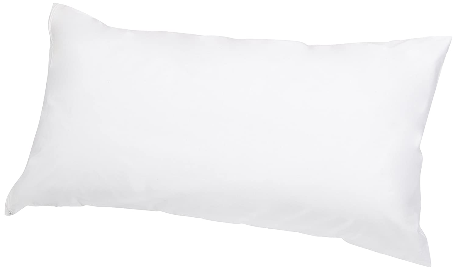AmazonBasics Hypoallergenic Pillow Protector, White, Body AB-ALE-PC-WHT-BD