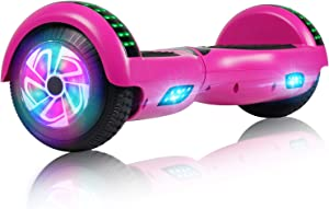 Felimoda Hoverboard Bluetooth, 6.5 Inch Two - Wheel Self Balancing Hoverboard with Bluetooth Light for Kids and Adult - UL2272 Certified - Purple