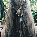 IYSHOUGONG 8 Pcs Women Alloy Moon Hair Clip Natural