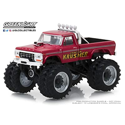 Greenlight 1:64 Kings of Crunch Series 2 - 1973 Ford F-250 Monster Truck Red - Krimson Krusher 49020-A: Toys & Games
