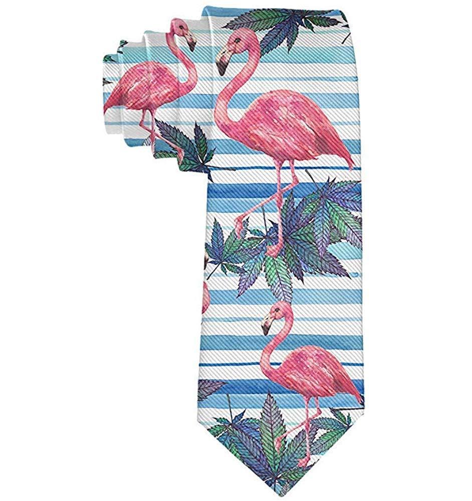 Corbata de moda para hombre Corbata rosada con diseño de playa y ...