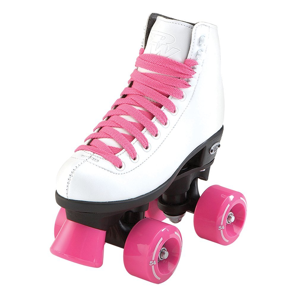 RW Skates - Wave - Kids Quad Roller Skates for Indoor / Outdoor | White | Size 11 Youth
